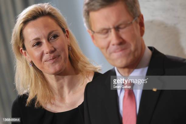 German President Christan Wulff and his wife Bettina Wulff receive citizens and public servants at the annual Presidential New Year's reception at...
