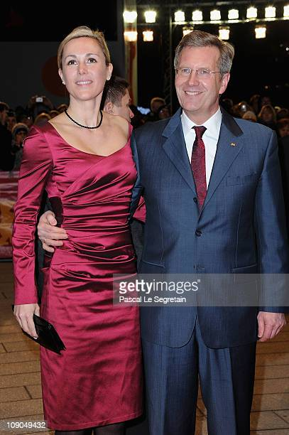 German President Christian Wulff and his wife Bettina Wulff attend the 'Pina' Premiere during day four of the 61st Berlin International Film Festival...