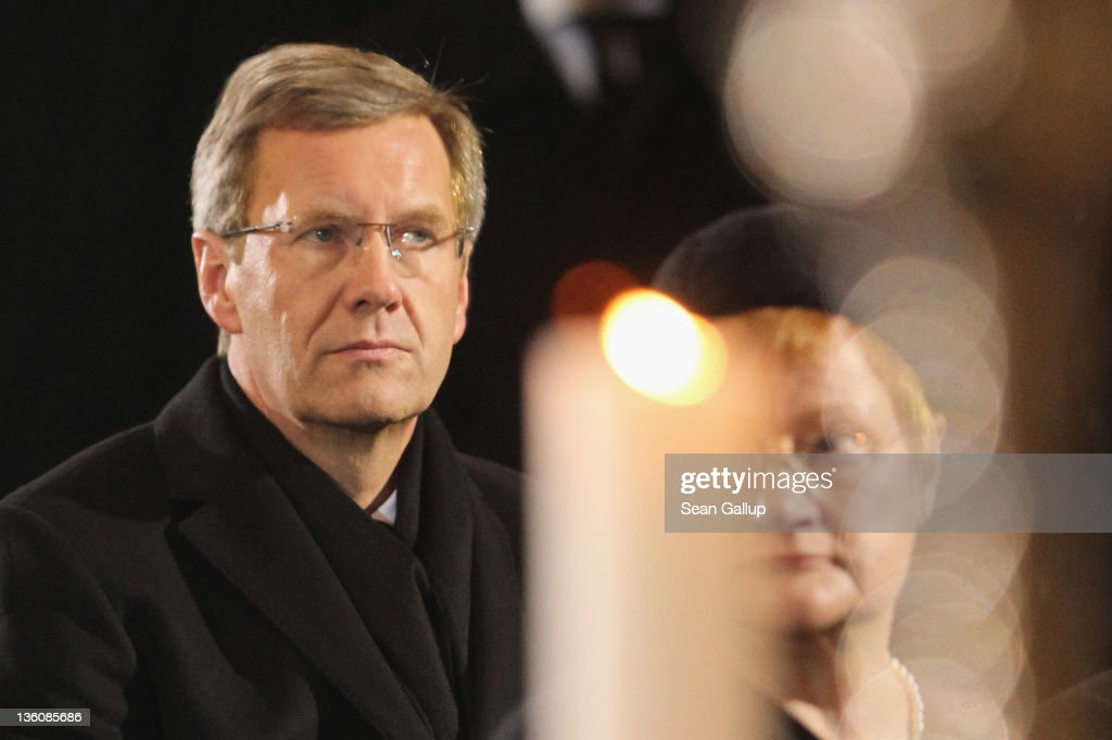 German President Christian Wulff attends the state funeral of former Czech President Vaclav Havel at St. Vitus Cathedral on December 23, 2011 in Prague, Czech Republic. International heads of state and thousands of mourners came to pay their last respects to the dissident playwright who led the Velvet Revolution that forced communist rule in Czechoslovakia to crumble in 1989, and died in the early morning of December 18 in his sleep at the age of 75.