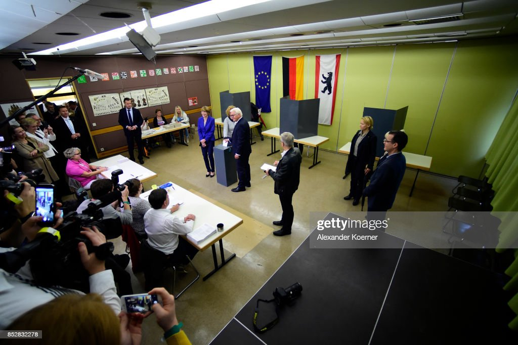 President Steinmeier Casts His Ballot In Federal Elections