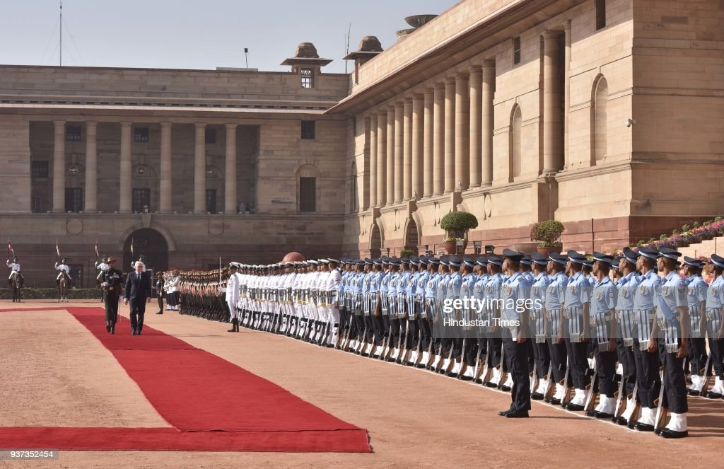 German President Frank-Walter Steinmeier Accorded Ceremonial Welcome At Rashtrapati Bhavan