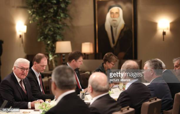 German president FrankWalter Steinmeier meets with by Jordan's King Abdullah II in Amaan Jordan 28 January 2018 His five day trip will see him meet...