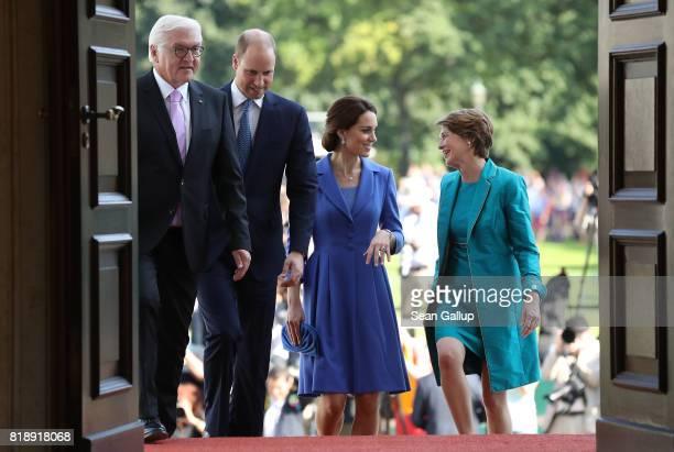 German President FrankWalter Steinmeier Prince William Duke of Cambridge Catherine Duchess of Cambridge and German First Lady Elke Buedenbender enter...