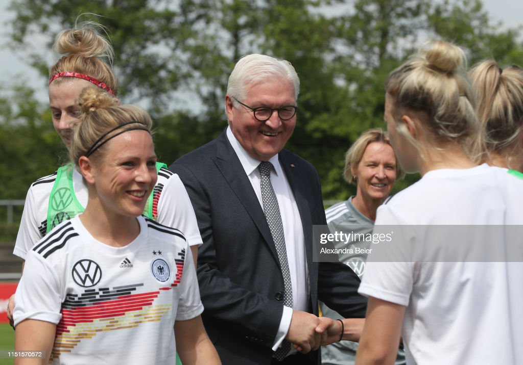 DEU: President Steinmeier Visits Germany Women's Training Camp In Grassau
