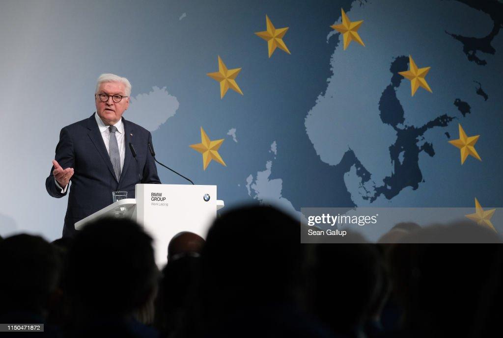 DEU: President Steinmeier Urges BMW Workers To Vote In European Elections