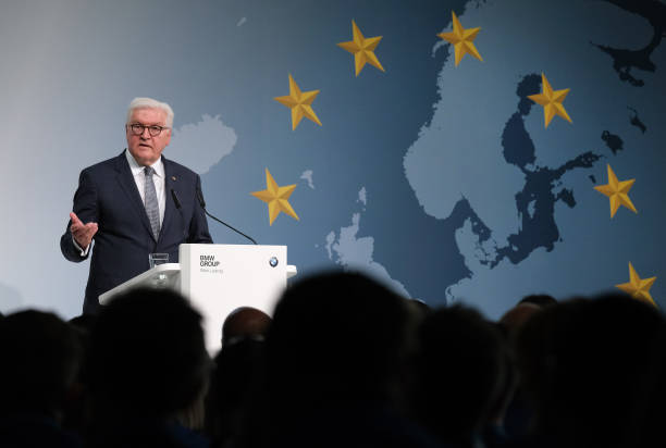 DEU: President Steinmeier Urges BMW Workers To Vote In European Elections