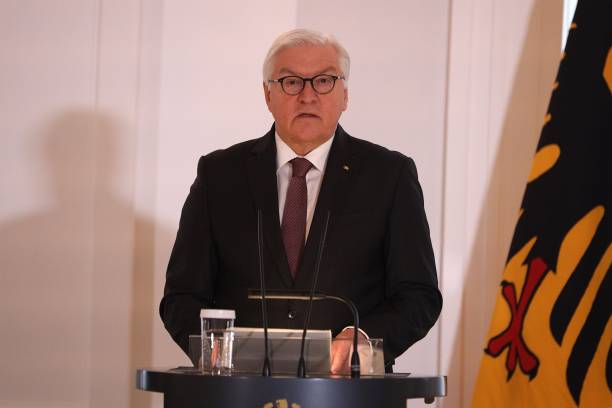 DEU: President Steinmeier Awards Six Citizens Ahead Of VE Day