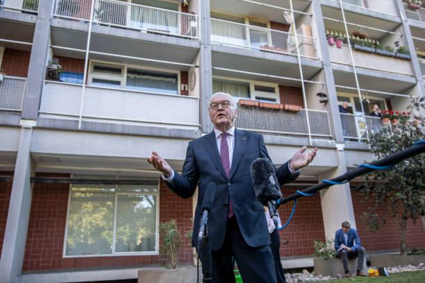 DEU: President Steinmeier Visits Neighbour Initiatives During The Coronavirus Crisis