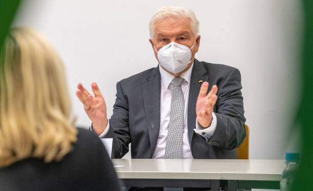 DEU: President Steinmeier Visits Local Health Office During The Second Wave Of The Coronavirus Pandemic