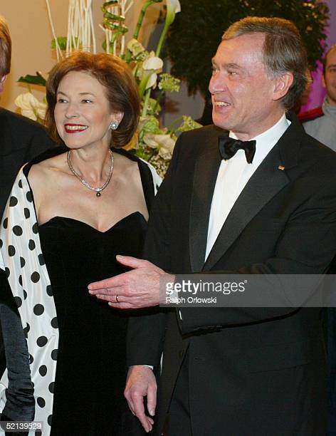 German President Horst Koehler and his wife EvaLuise attend the Ball Des Sports Gala Evening at the Festhalle on February 4 2005 in Frankfurt Germany