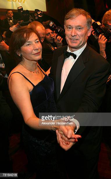 German President Horst Koehler dances with his wife EvaLuise Koehler during the 2007 Sports Gala Ball des Sports at the RheinMain Hall on February 3...