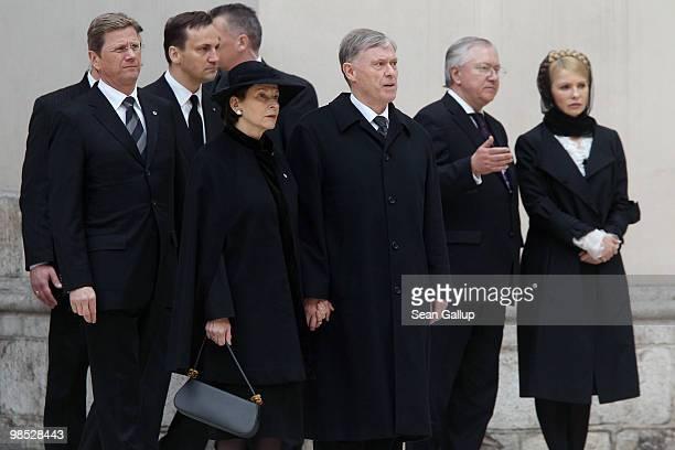 German President Horst Koehler his wife Eva Luise Koehler German Foreign Minister Guido Westerwelle and Ukrainian opposition politician Yulia...