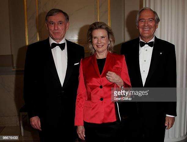 German President Horst Koehler Karin Berger and Roland Berger attend the Roland Berger Award for Human Dignity 2010 at the Konzerthaus am...