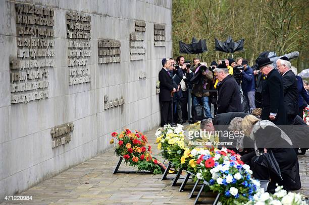 German President Joachim Gauck and Prince Richard Duke of Gloucester attend a ceremony to commemorate the 70th anniversary of the liberation of the...