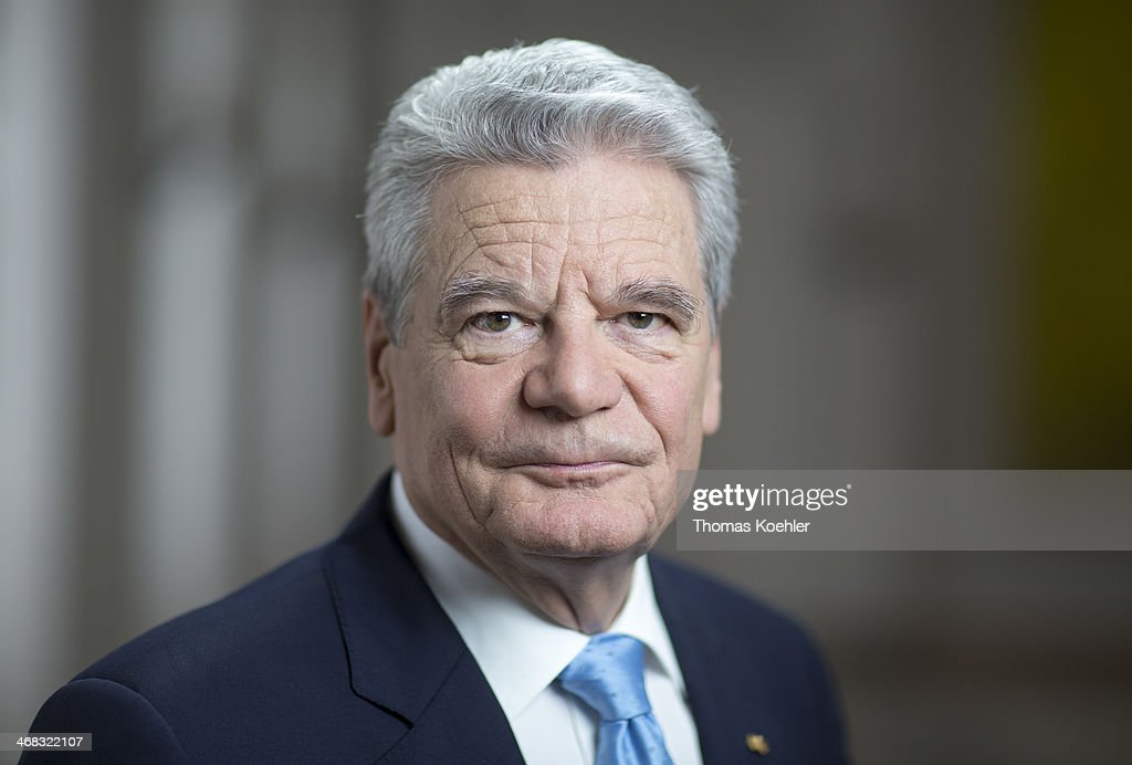 German President Joachim Gauck poses for a photograph at Bellevue Palace on January 15, 2014 in Berlin, Germany.