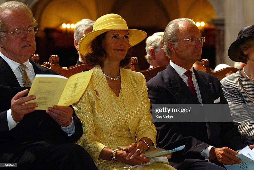 Swedish Royals Attend Church Service : News Photo