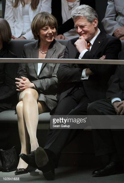 German presidential candidate Joachim Gauck and his partner Daniela Schadt attend the election of a new German president by the Federal Assembly on...