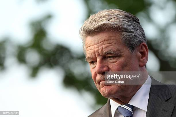 German presidential candidate Joachim Gauck attends a reception of the German Social Democrats on June 29 2010 in Berlin Germany Gauck is the...