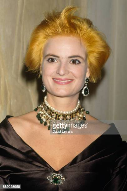 German Princess Gloria Von Thurn und Taxis at the Soiree des Artistes Auteurs Associes