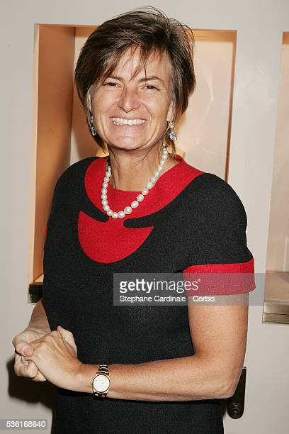 German princess Gloria Von Thurn und Taxis attends the exhibition opening of French jewelery house Chaumet titled 'Napoléon in Love' on Place Vendôme...