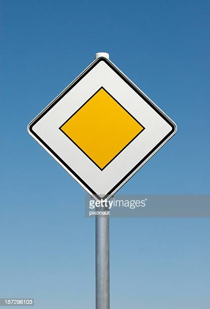 german priority sign - give way stock pictures, royalty-free photos & images