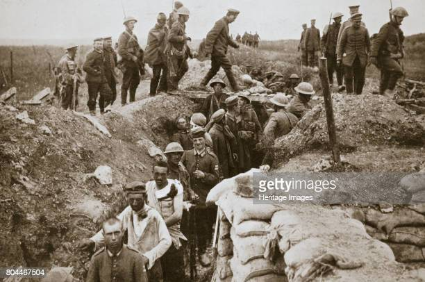 German prisoners brought in from Contalmaison Somme campaign France World War I 1916 Artist Unknown