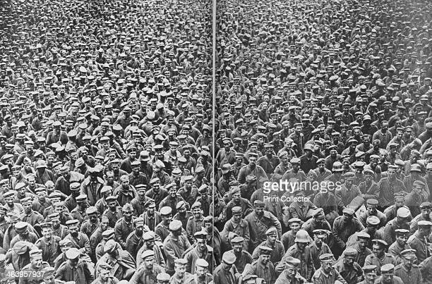 German prisoners captured by the 3rd and 4th British Armies Somme France 2122 August 1918 Soldiers captured by the British at the Battle of Bapaume...