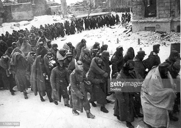 German prisoners of war captured during the battle of stalingrad 1942 or 1943