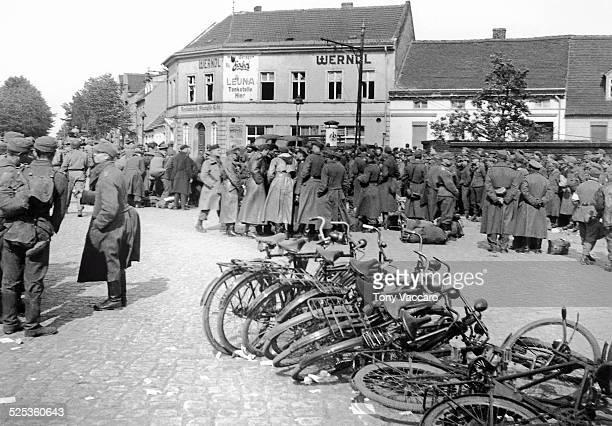 German prisonersofwar Rosslau Germany east of the Elbe World War II May 1945