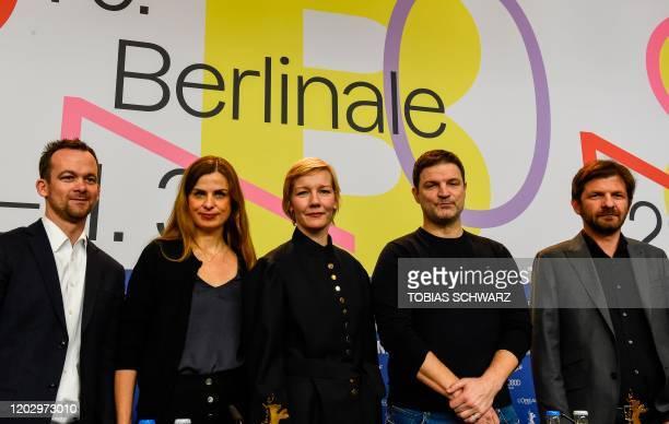 German producer Jonas Dornbach German producer Janine Jackowski German actress Sandra Hueller German actor Misel Maticevic and Albanian writer and...