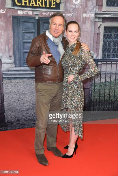 German producer Nico Hofmann and german actress Alicia von Rittberg attend the 'Charite' Berlin Premiere on March 13, 2017 in Berlin, Germany.