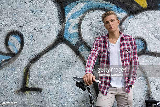 German professional cyclist Marcel Kittle of UCI pro team ArgosShimano photographed during a portrait shoot for Procycling Magazine September 3 2013