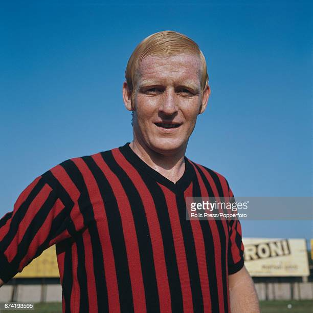 German professional footballer and defender with A C Milan KarlHeinz Schnellinger pictured during a training session in Milan in January 1971