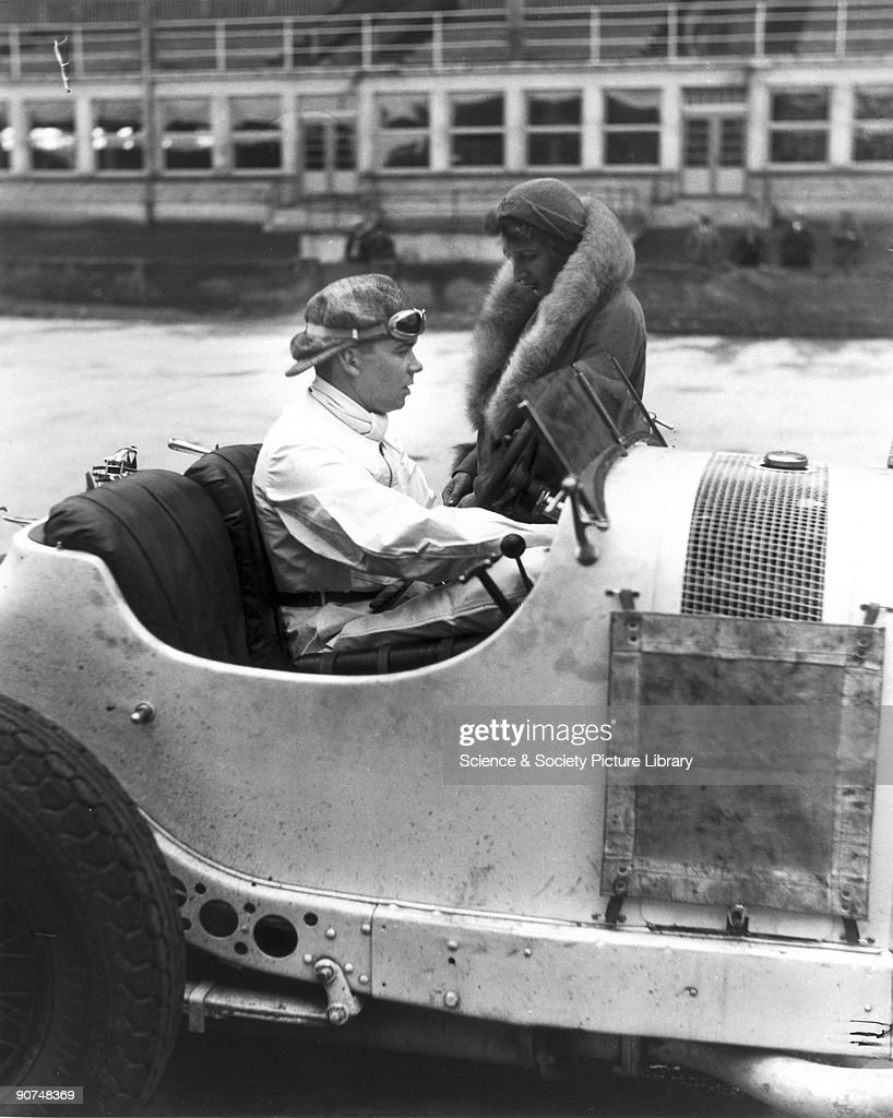 Rudolf Caracciola in his Mercedes-Benz racing car, Nurburgring, Germany, 1931. : News Photo