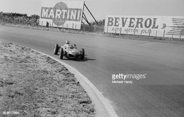 German racing driver Wolfgang von Trips driving Team Ferrari at the Dutch Grand Prix, Circuit Park Zandvoort, Zandvoort, Netherlands, 22nd May 1961.