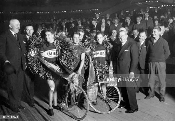 German racing team Erich Dorn / Erich Maczynski as winners at the 22nd Berlin Six Day Race 8th November 1929 Photograph Das deutsche RennfahrerTeam...