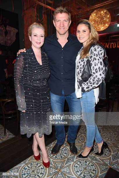 German radio moderator Gerlinde Jaenicke former german football player Marko Rehmer and his wife Daniela Rehmer attend the Private Soul Foods...