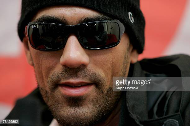 German rapper Bushido addresses a news conference March 1 2007 in Mannheim Germany On friday Bushido will be on stage during the music show 'The Dome...