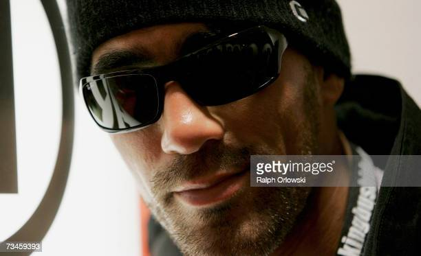 German rapper Bushido poses after a news conference March 1 2007 in Mannheim Germany On Friday Bushido will be on stage during the music show 'The...