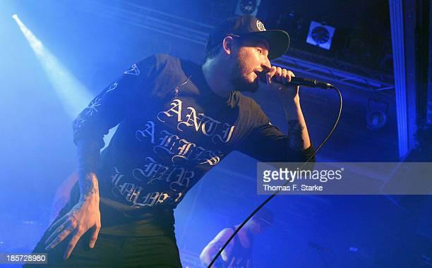 German rapper Casper performs live at the FORUM Bielefeld on October 24 2013 in Bielefeld Germany