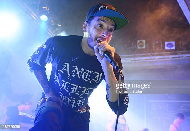 German rapper Casper performs live at the FORUM Bielefeld on October 24 2013 in Bielefeld Germany