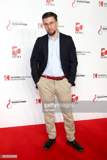 German rapper Friedrich Kautz alias Prince P during the German musical authors award on March 15 2018 in Berlin Germany