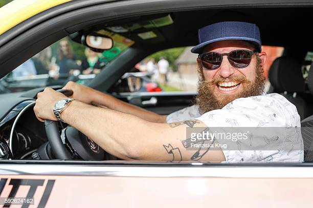 German Rapper MC Fitti attends the 12th Beetle Sunshine Tour To Travemuende the 12th Beetle Sunshine Tour on August 20 2016 in Luebeck Germany