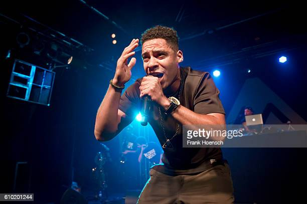 German rapper Megaloh performs live during a concert at the Postbahnhof on September 24 2016 in Berlin Germany