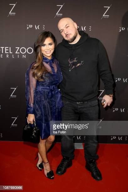 German rapper Savas Yurderi alias Kool Savas and his wife Maria Yurderi during the 4 year anniversary party of GRACE Restaurant at Hotel Zoo on...