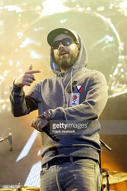 German rapper Sido performs live during the concert Stars For Free at the Kindlbuehne Wuhlheide on August 30 2014 in Berlin Germany
