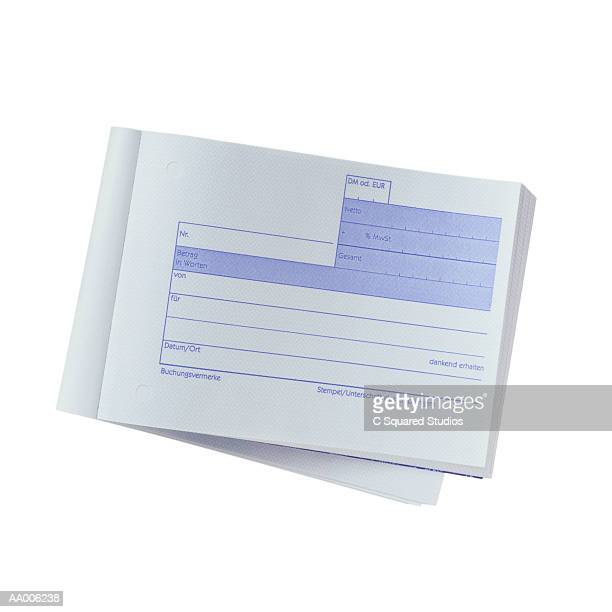 german receipt pad - レシピ帳 ストックフォトと画像
