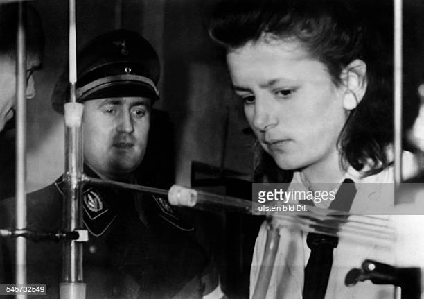 German Reich Reichsjugendfuehrer Artur Axmann with a female participant of the `Kriegsberufswettkampf der Deutschen Jugend' 1944 Published by...