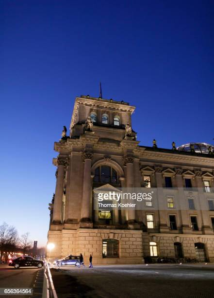 German Reichstag at evening light on February 15 2017 in Berlin Germany