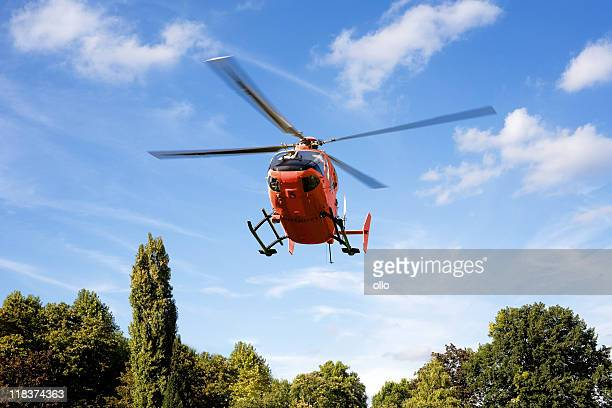 german rescue helicopter - medevac stock photos and pictures